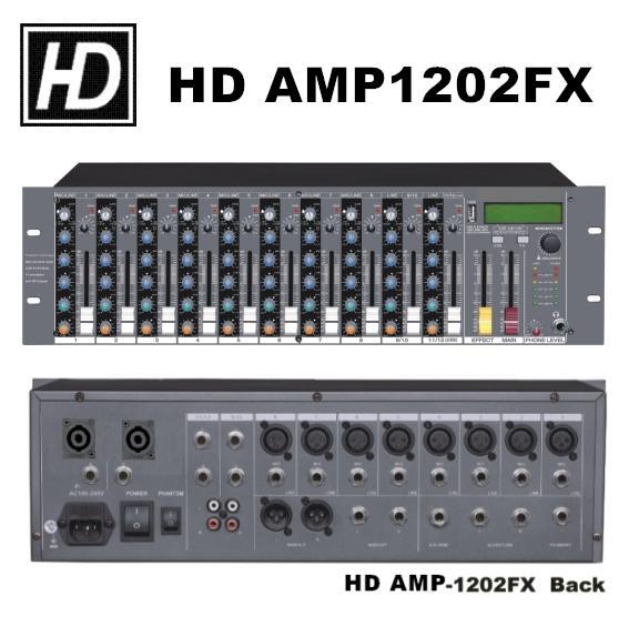 混音擴大機 AMP-1202FX(機櫃型) 1